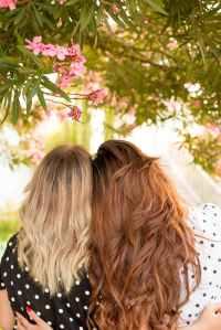 friends girl blonde portrait