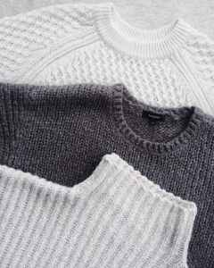 close up photo of three sweatshirts