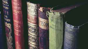 low light photography of books